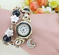 Women's Fashion Flowers Moon Pendant Bracelet Watch(Assorted Colors)