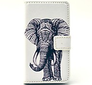 Tattoo Elephant Ship Pattern PU Leather Cover Full Body Case with Card Slot for Nokia Lumia N520