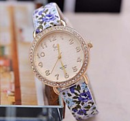 Women's Fashion Sweet Floral Diamante Watches(Assorted Colors)