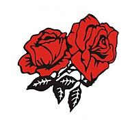 le pare-chocs de roses autocollants de voiture