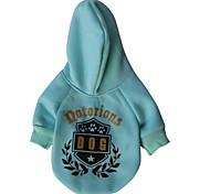 Dog Hoodies - XS / S / M / L - Winter - Green / Blue Terylene