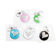 Rhinestone Heart Print Shape Tag Accessory for Collars for Pets Dogs(Assorted Colors)
