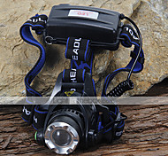 Headlamps LED 3 Mode 1200 Lumens Cree XM-L T6 18650 Camping/Hiking/Caving / Cycling / Climbing - Others , Black Aluminum alloy