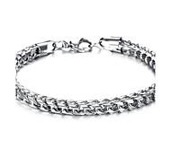 Z&X®  Men's Fashion Titanium Steel Character Charm Bracelet
