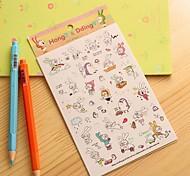 kleines Kaninchen Tagebuch-Aufkleber (6 Stück)