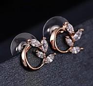 Z&X®  Fahion Simple High Grade Classic Cubic Zircon Earrings
