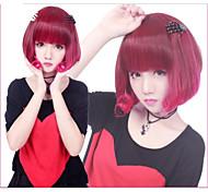 Parrucche lolita Punk Colore Graduale e Sfumato Ciocca / Corto Rosso Parrucche Lolita 35 CM Parrucche Cosplay Collage Parrucche PerDa