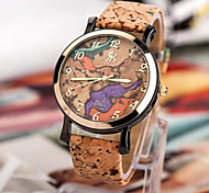 Women's Fashion Bark Grain Marble Cortex Casual Watches