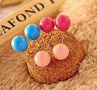 Lovely Candy Color Ball Earring Exquisite Earrings a Pair(Assorted Colors)