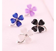 Fashion Exquisite Earring Four Leaf Clover Earrings a Pair