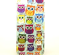 The Heart-Shaped Owl Pattern TPU Soft Case for iPhone 6/6S