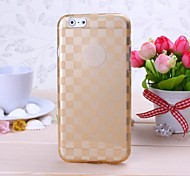 Gold Grid Pattern TPU Soft Cover for iPhone 6/6S