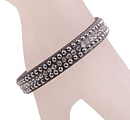 European Style Three Layer Leather Bracelet