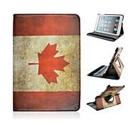 Retro Canada Pattern 360 Degree Rotation Case for iPad mini 3, iPad mini 2, iPad mini