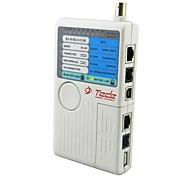 E285 4-in-1 RJ-45 / RJ-11 / USB / BNC Cable Tester - White