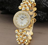 Women's Casual Round Dial Silver Rhinestone Crystal Ladies Bracelets Quartz Analog Watch (Assorted Color) Cool Watches Unique Watches