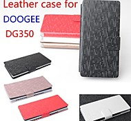 Fashion Leather Flip Case Cover for DOOGEE DG350 Smartphone Phone Cases 4-color