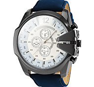 Men's Watch Military Style Leather Band