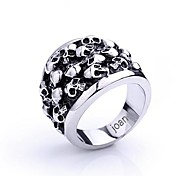 Personalized Gift  Fashionable Skull Shaped Stainless Steel Jewelry Engraved  Men's Ring