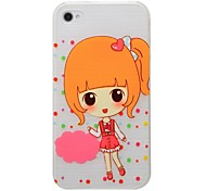 Cute Little Pattern PC Brushed Hard Case for iPhone4/4s