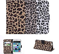 Leopard Print Design PU Full Body Case with Card Slot for iPhone 6 (Assorted Color)