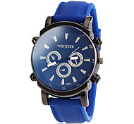 Men's Fashion Sporty Dial Silicone Band Wrist Watch (Assorted Colors)