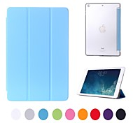 Natusun™ Slim Smart Soft PU leather Cover Hard Translucent Plastic Shell Integrated with Sleep bracket for iPad air
