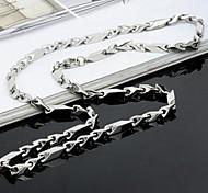 Men's Fashion Titanium Steel Y Shape Chain Necklace