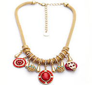 Fashion New Arrival Round Drops Statement Necklace