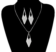 Vintage Rhombus Shape Shinning Jewelry Set(1 Set)