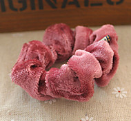 Cloth Art Hair Bands Pleuche Hair Rope Headdress Flower Random Delivery