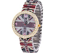 Coway Men's Round Diamond Golden Dial Red Alloy Band Automatic Self Wind Analog Waterproof Wrist Watch