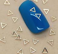 200PCS Hollow Triangle Shape Golden Metal Slice Nail Art Decoration
