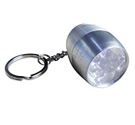 Camping Mini Ultra Bright 6-LED White Light Flashlight with (20LM,2×CR2032,Silver)