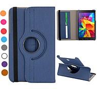Para Funda Samsung Galaxy con Soporte / Flip / Rotación 360º Funda Cuerpo Entero Funda Un Color Cuero Sintético Samsung Tab 4 8.0