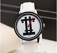 Men's Fashion Contracted Cartoon Well Word Belt Watch