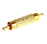 RCA Male to Male Gold-plated Adapter