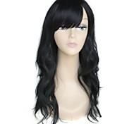 Long High Quality Big Wave Female Elegant Fashion Synthetic Celebrity Black Wig