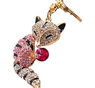 Fashion Fox Holding A Small Crystal Ball Key Chain(Red&Green&Blue&Pink)(1 Pc)