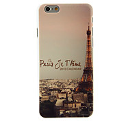 Eiffel Tower in the Night Pattern PC Hard Back Cover for iPhone 6