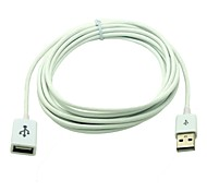 3M 10FT USB 2.0 Male to USB 2.0 Feamle Extension Cable Data Sync Charging for iPad iPhone iPod Mac White Free Shipping