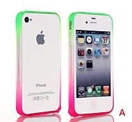 Natusun™ PC Material Bumpers Straight Edge Hippocampus Buckle Case for iPhone 4/4S (Assorted Colors)