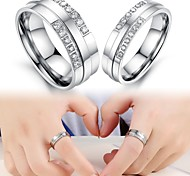 Exquisite Gift Fashion Diamond Titanium Lovers Ring