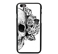 Elonbo Flowers Skull Plastic Hard Back Cover for iPhone 6