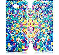 For Samsung Galaxy Case Flip / Pattern Case Full Body Case Geometric Pattern PU Leather Samsung S4 Mini