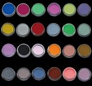24pcs Mix-Farben-Nagel-Kunst-Skulptur Acrylpulver