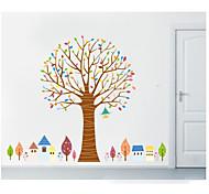 jiubai ™ mur la maison d'arbre de bande dessinée décoration murale sticker