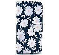 Beautiful Daisy Pattern PU Leather Cover with Stand and Card Slot for iPhone 6