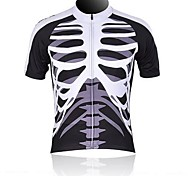 WOLFBIKE Men 's Summer Breathable Polyester Short Sleeve Cycling Jersey - Black