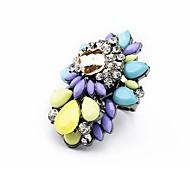 Lureme®New Style Alloy Diamond Flower Ring